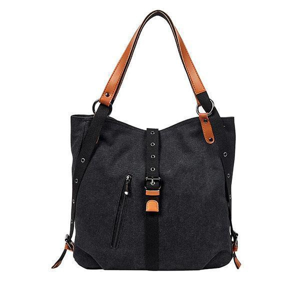 2-In-1 Backpack Canvas Backpack-Shoulder Bag with Extra Large Capacity