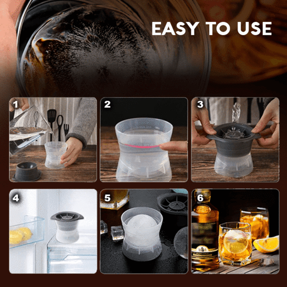 (CHRISTMAS HOT SALE - SAVE 50% OFF) 2021 Newest Sphere Ice Cube Mold - Buy 4 Free Shipping