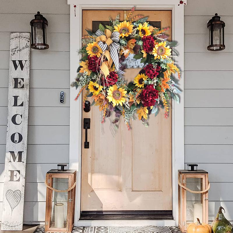 Sunflower Wreath-Country French Wreath