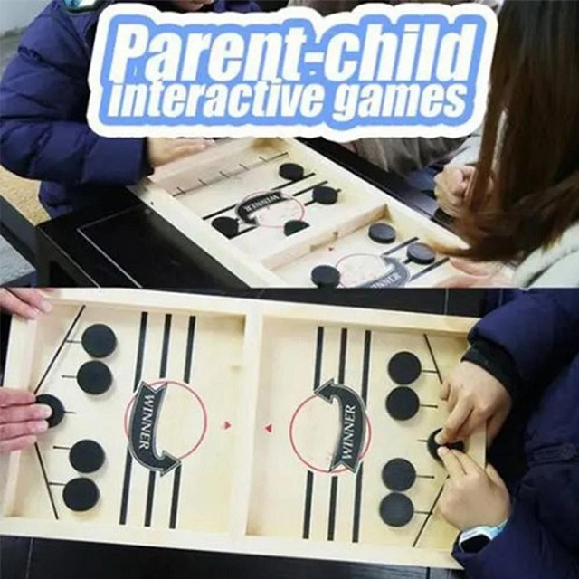 (CHRISTMAS HOT SALE - SAVE 50% OFF) Funny Family Wooden Hockey Game - Buy 3 Get Extra 20% OFF