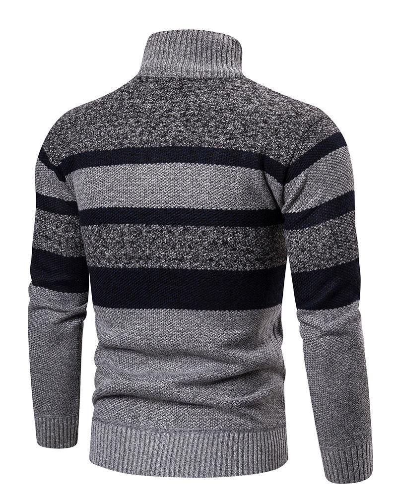 Striped long-sleeved sweater