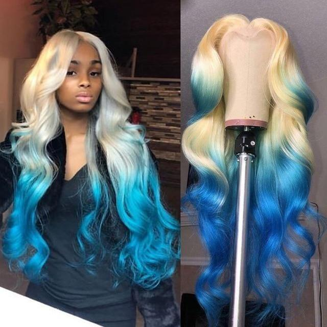 Green Wigs Lace Front Wigs Virgin Hair For Black Women Red Orange Ombre Wig Best Short Wigs Human Wigs Flat Top Wig Free Shipping