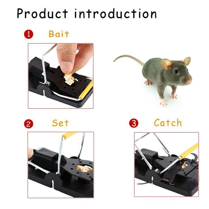 🐁Reusable Snap Trap Mice Catcher Rodent Trap for Indoors Outdoors【6pcs】