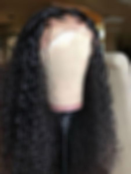 Curly Wigs Lace Front Curly Hair Black Hair Yaki Hair 18In Hair Extensions 70S Afro Wig Cheap Bundles And Closure