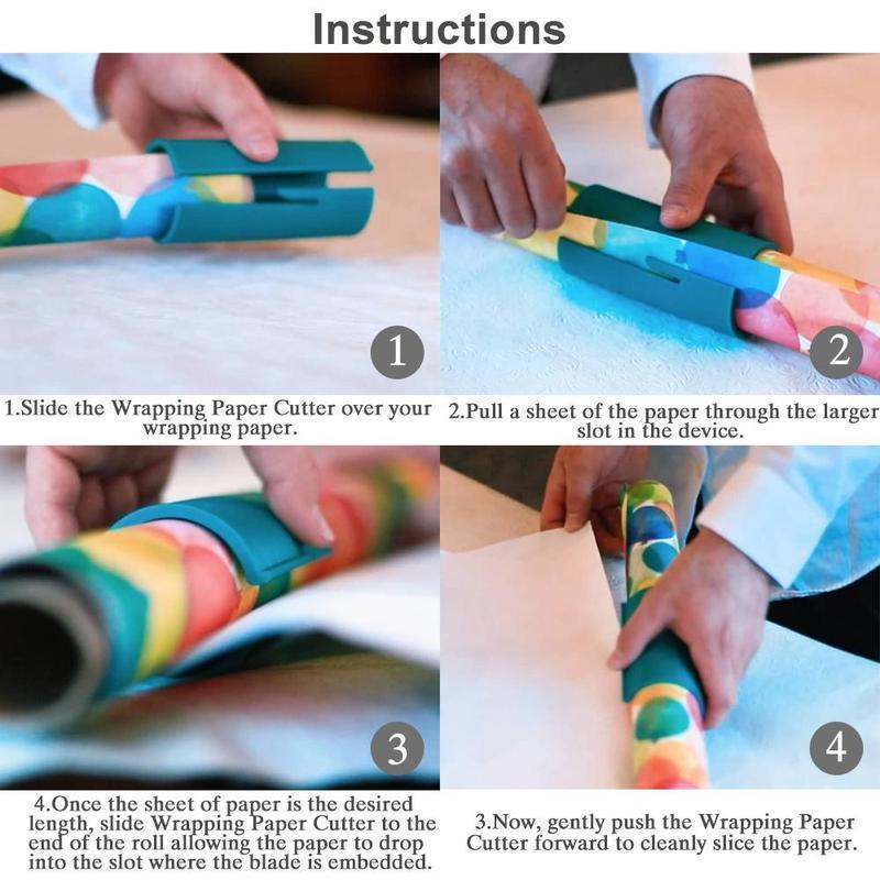 (🎄Early Christmas Sale🎄- Save 50% OFF) Sliding Wrapping Paper Cutter- Buy 4 Get Free Shipping