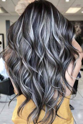 2021 New Lace Front Wigs Blue Sky Lace Front Wig White Hair Black Roots Medium Grey Hair