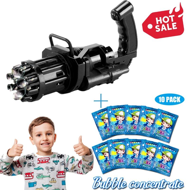 2021 Cool Toys & Gift🎁Gatling Bubble Machine📢 50% OFF