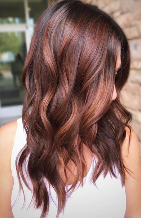 Long Wavy Red Wig Rose Gold Ombre Wig Color Rinse Honey Brown Hair Color