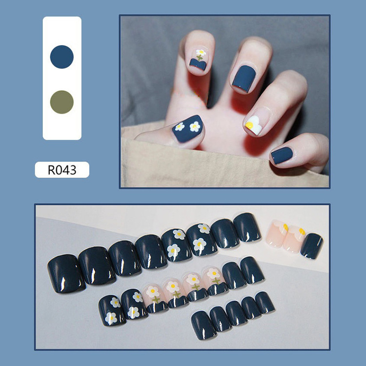 🎁50% OFF💅24 PCS Wearable Full Cover Fake Nail Clips🎀