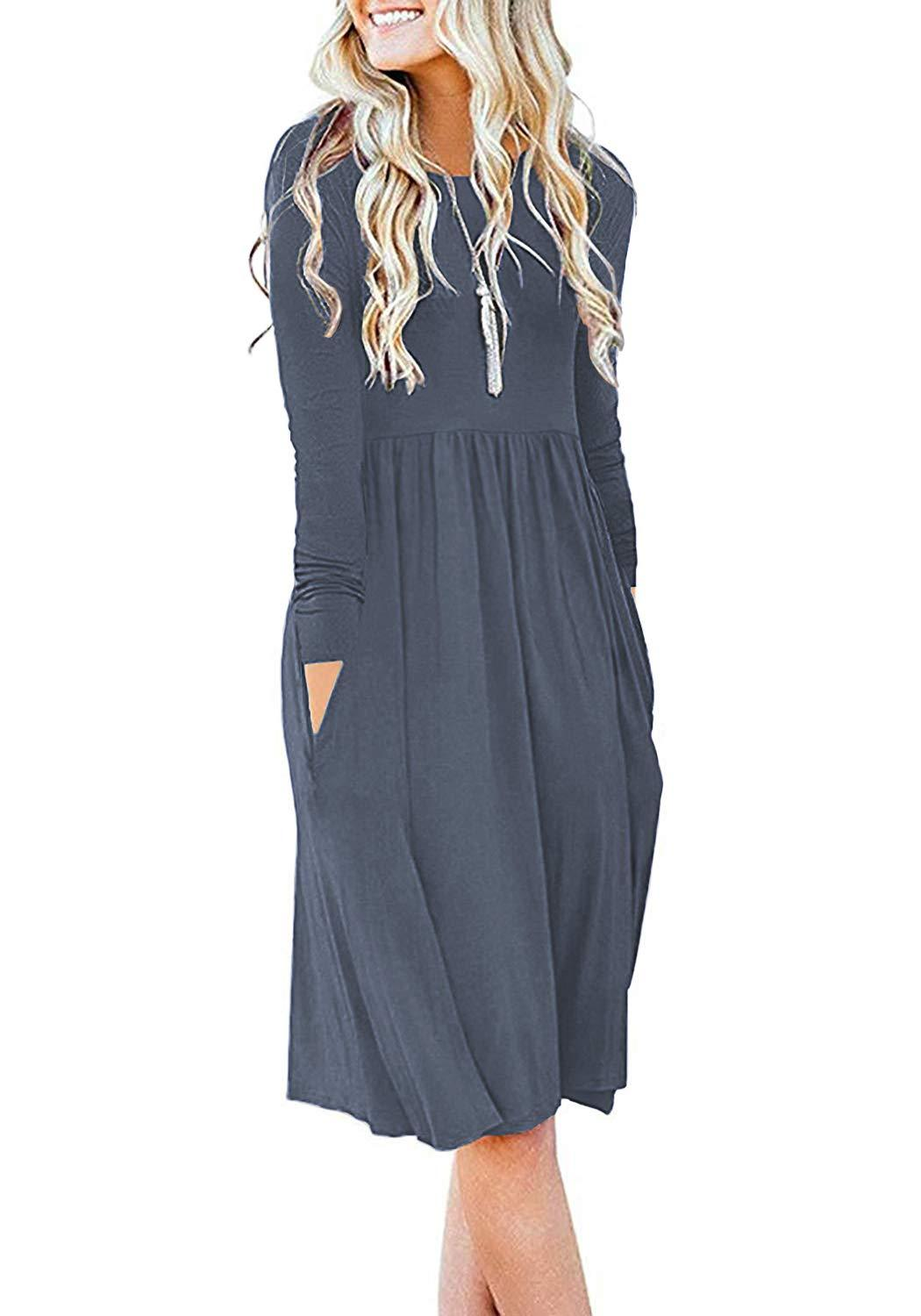 Empire Waist Loose Dress with Pockets