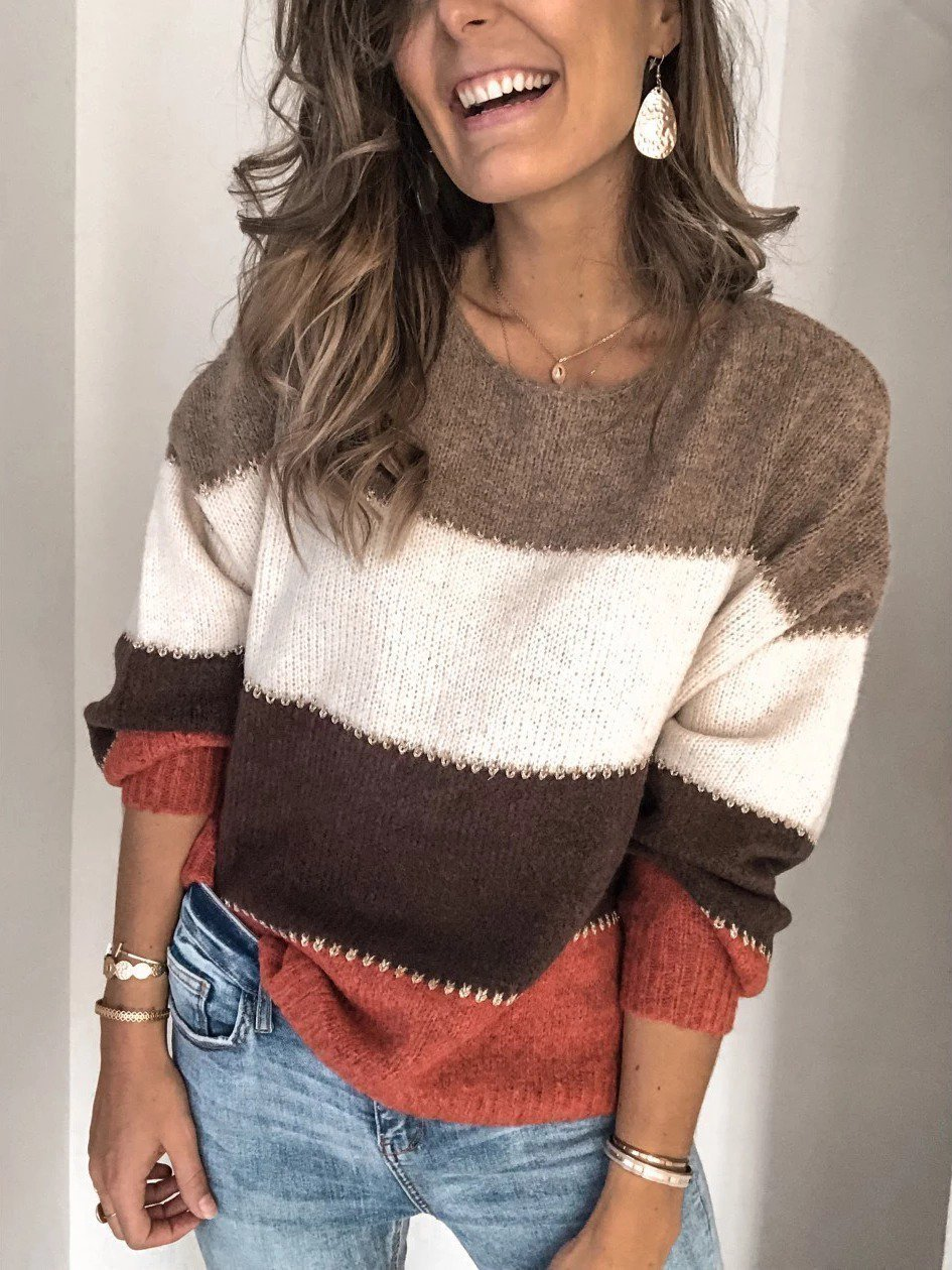 Plus Size Long Sleeve Casual Sweater