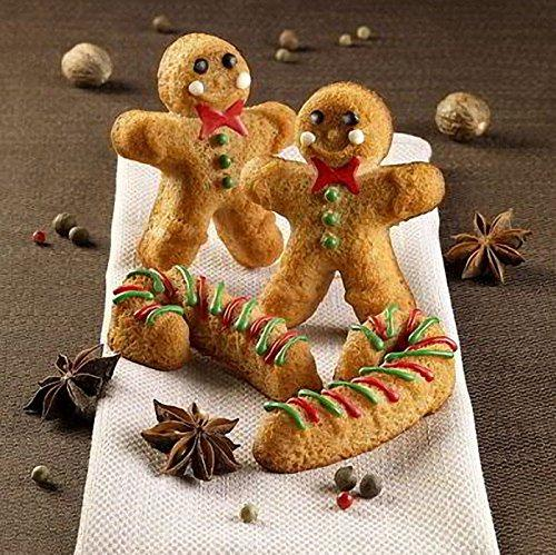 2-Pack Gingerbread Man Chocolate Molds Set
