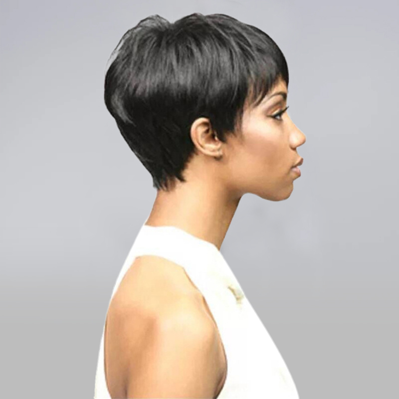Luna Short Straight Wig for African American Women