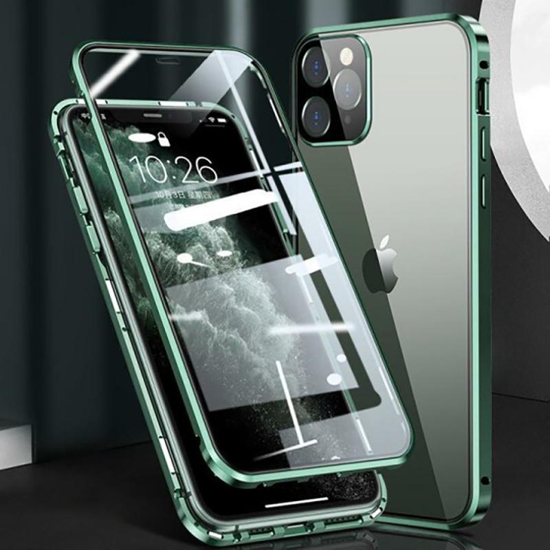 2021 Upgraded Two Side Tempered Glass Magnetic Adsorption Phone Case for iPhone 12!!