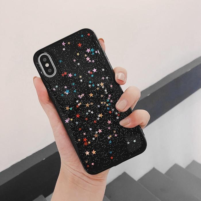 Colorful Glittery Stars Cases