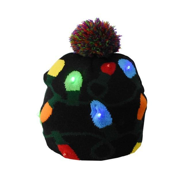 Knitted Christmas LED Light up Hat