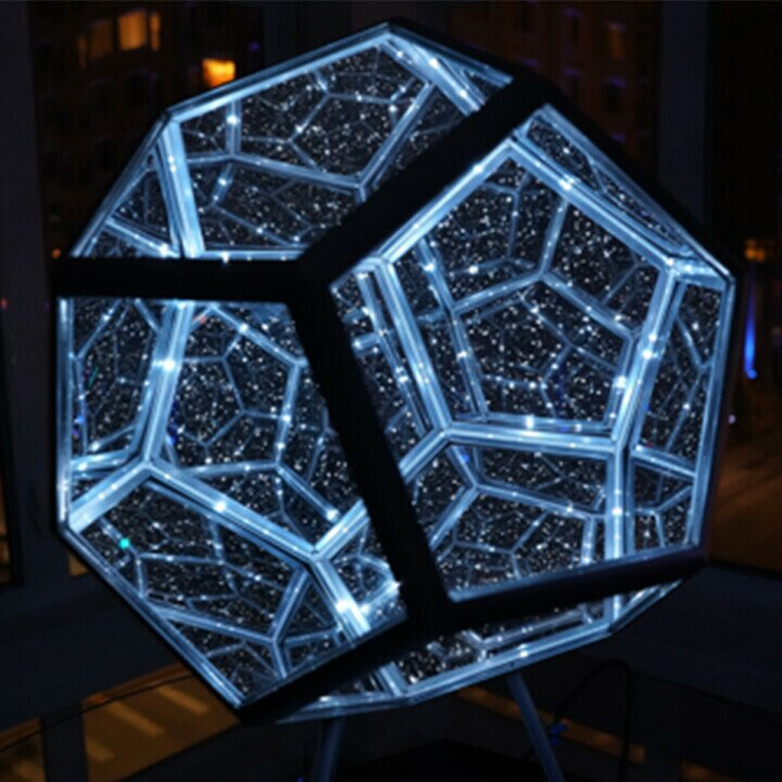 🔥🔥Infinite Dodecahedron Color Art Light