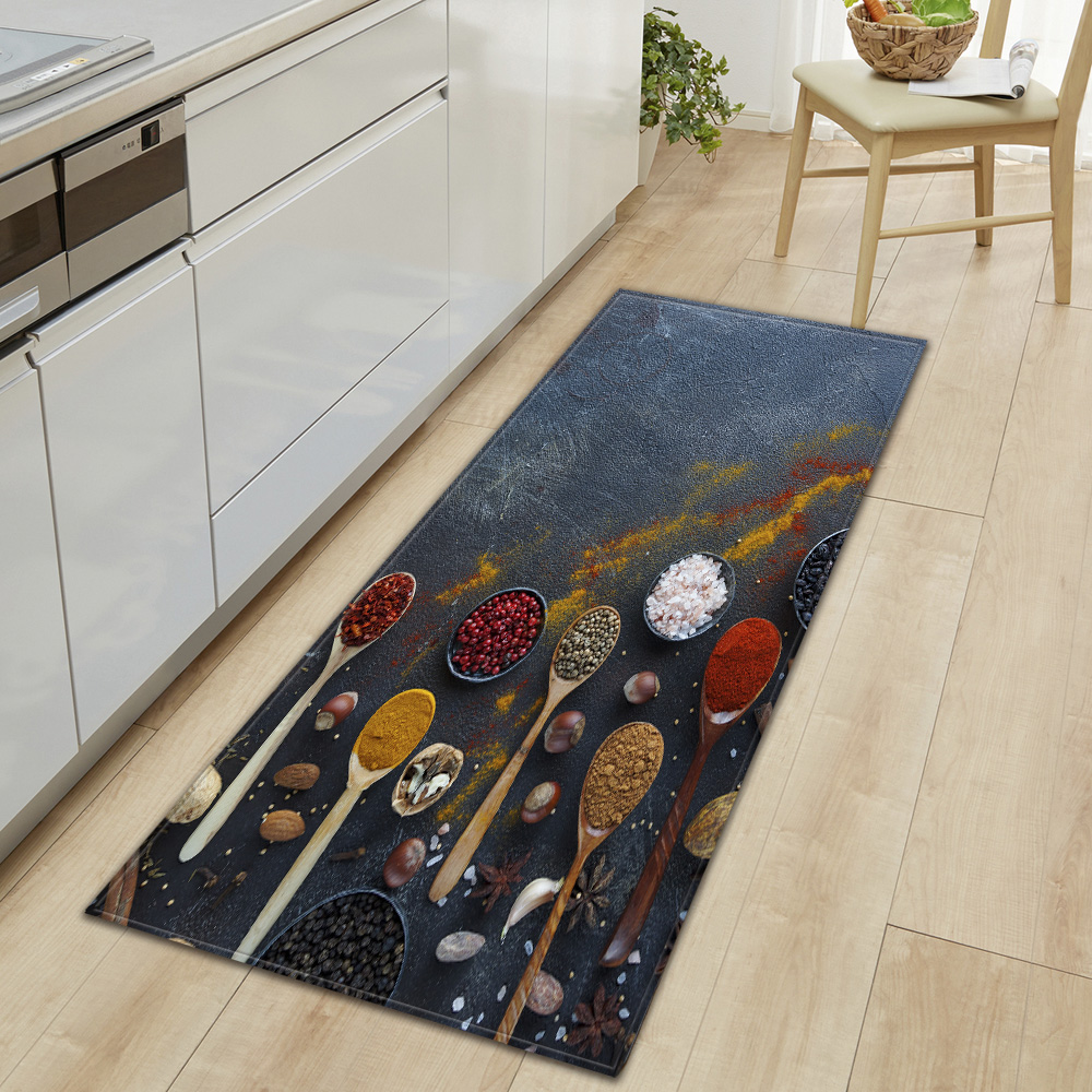 💘Buy One Get One Free🎁3D Kitchen Style Featured  - Kitchen Printed Non-Slip Carpet
