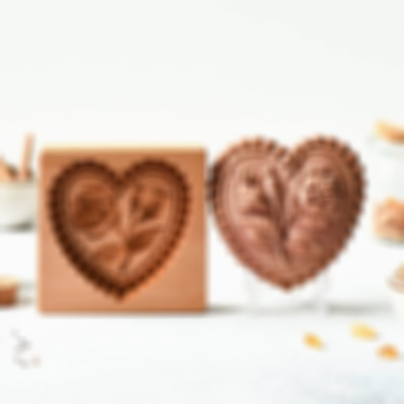 Cookie Cutter - Love Rose Cookie Stamp