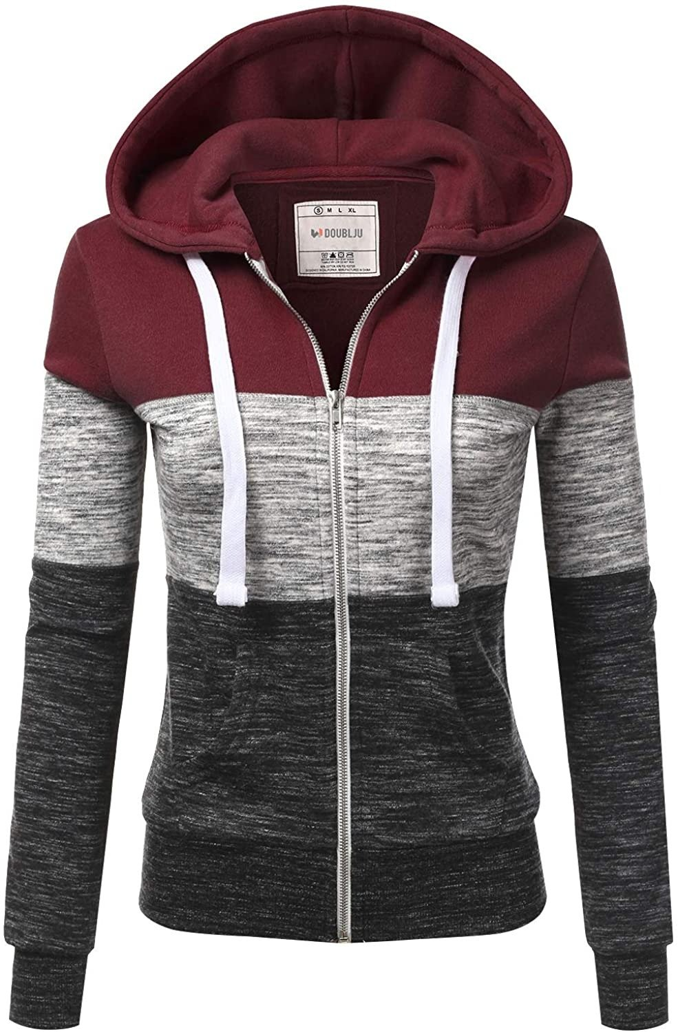 🔥 50% OFF 🔥 Doublju Lightweight Thin Zip-Up Hoodie Jacket for Women with Plus Size
