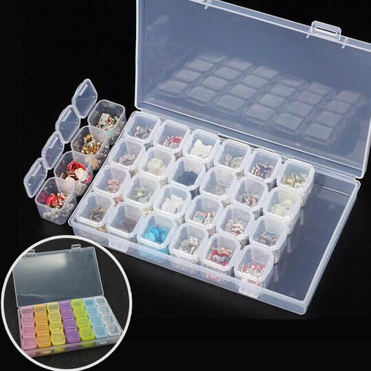 28 Slots Transparent Anti-Oxidation Jewelry Box🎄Early Christmas Sale- 50% OFF
