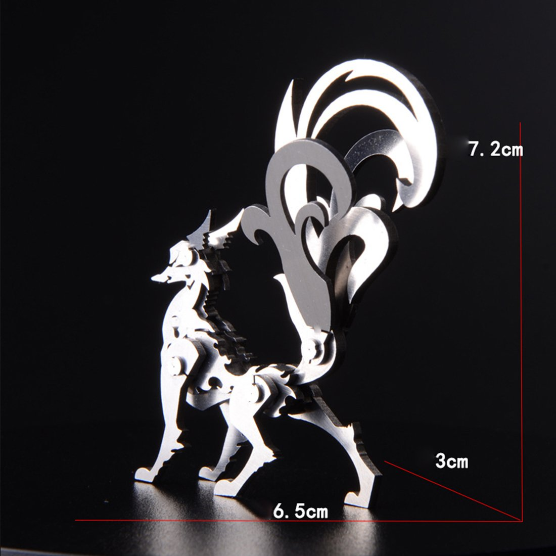 3D DIY Metal Puzzle Nine-tailed Fox Model Kit-Difficulty level: ⭐⭐