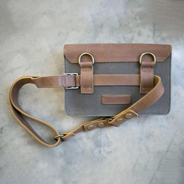 Faddishshoes Wearable Wallet Canvas Leather Crossbody And Belt Bags