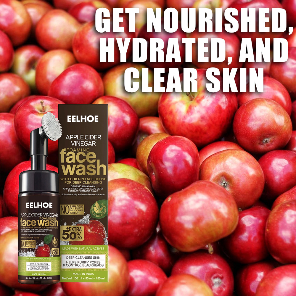 WOW Skin Science Apple Cider Vinegar Foaming Face Wash (with built-in brush)