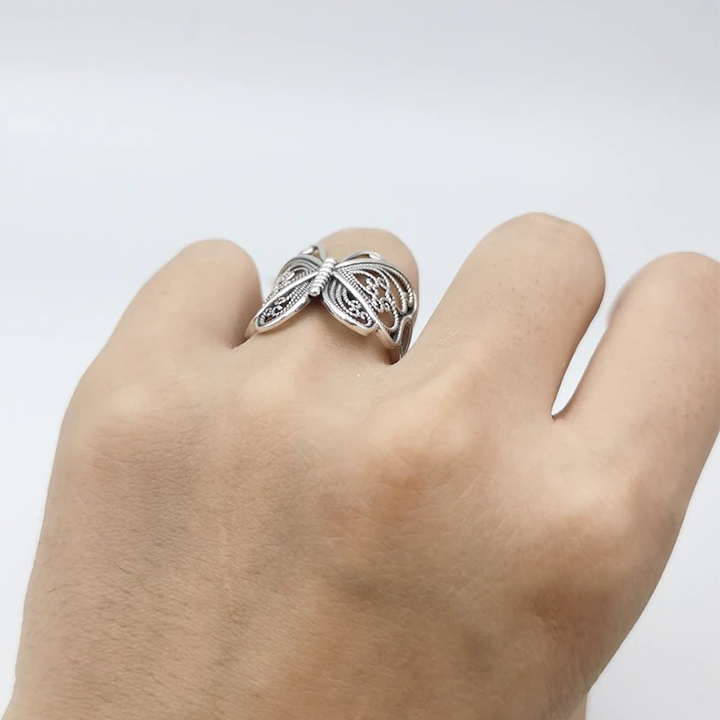🦋Solid 925 Sterling Silver Filigree Butterfly Ring🦋