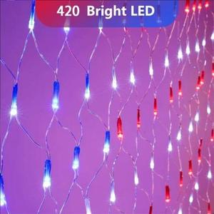 American FLAG 420 LED STRING lamp-Large American FLAG outdoor lamp