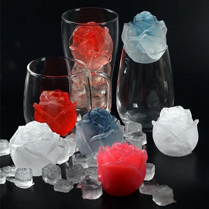 💥3D Silicone Rose Shape Ice Cube Mold💥