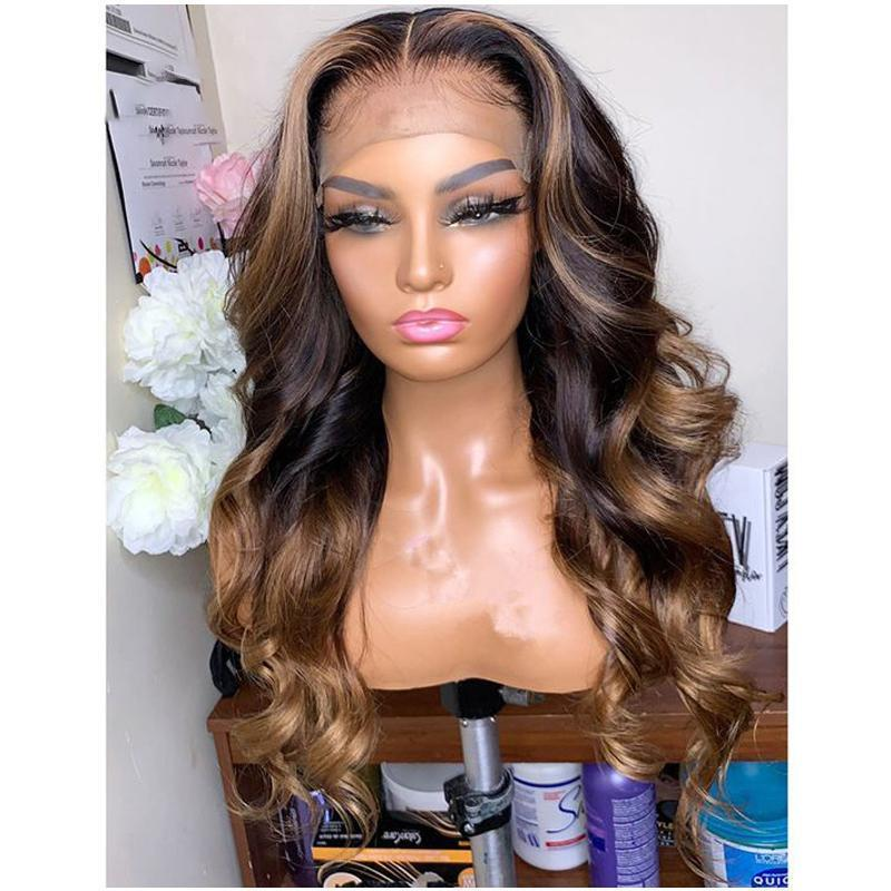 Malaysian Natural Body Wave Lace Wigs Middle Part Glueless Full Lace Human Hair Wigs