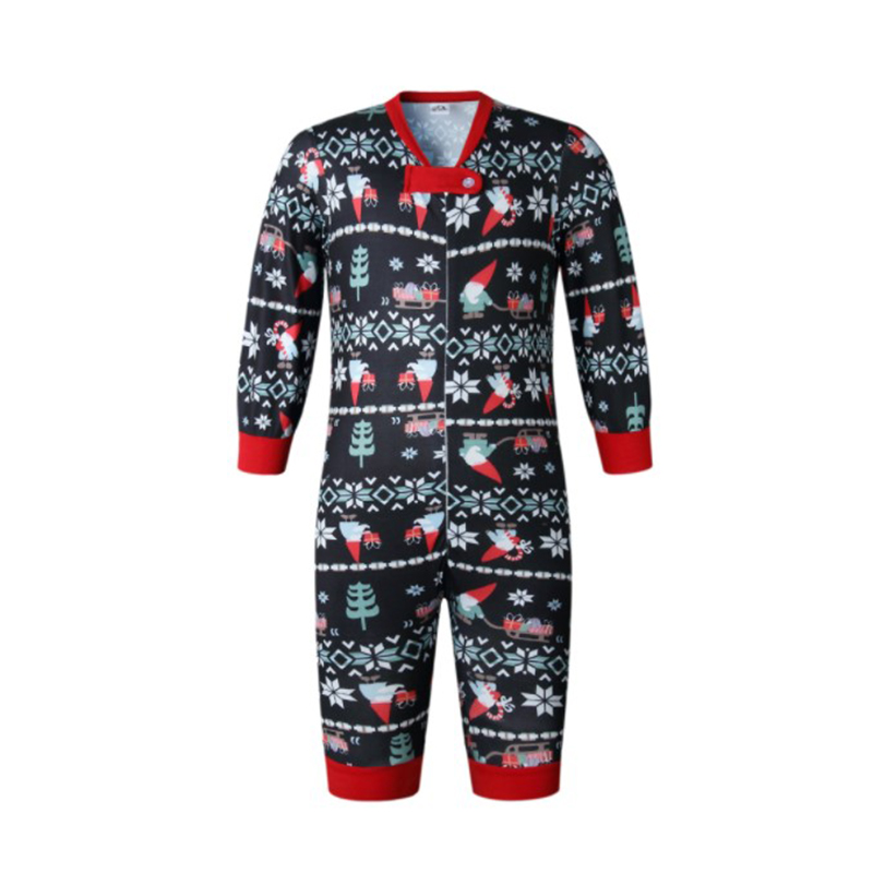 HERIN Black and Blue Stripes Christmas Family Matching Pajamas Sets