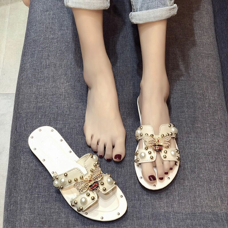 New summer pearl slippers