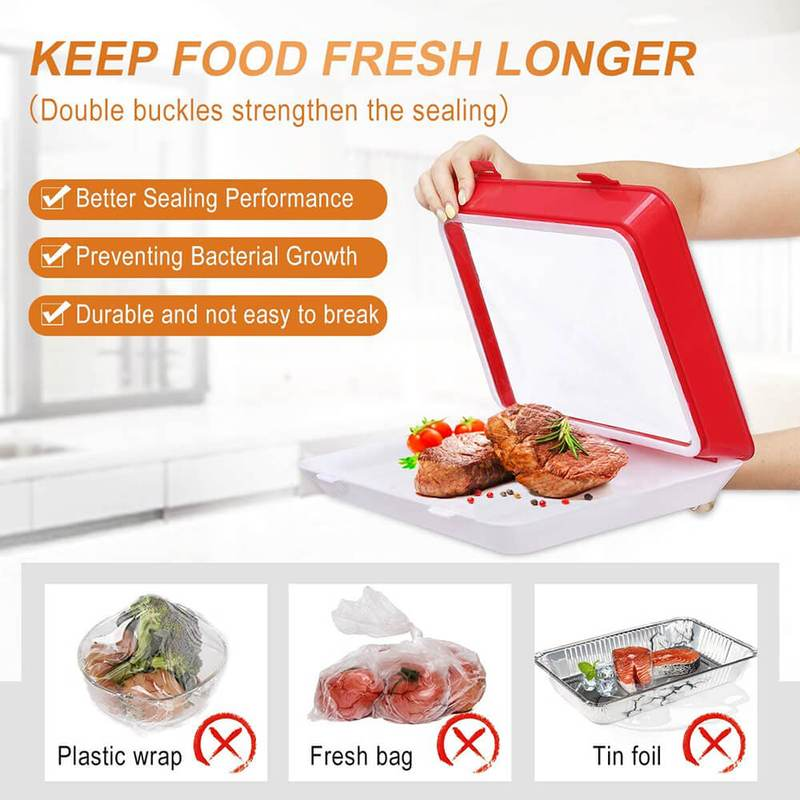 💥Early Summer Hot Sale 50% OFF💥 Reusable Food Preservation Trays & Buy 2 Get 1 FREE