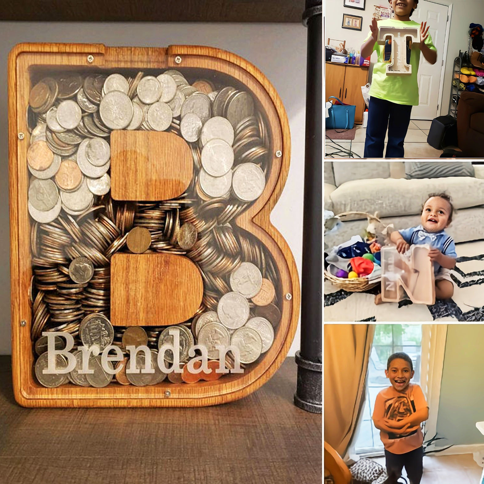 【Buy 2 Free Shipping】Personalized Boys/Girls Piggy Bank-Wood Gift For Kids,Only 800 pieces left