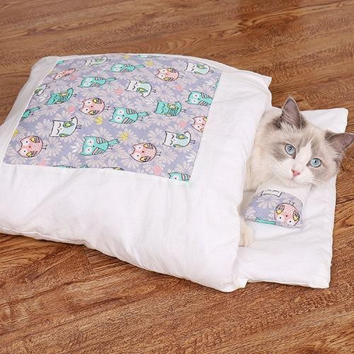 (New Year's Pre-Sale-Save 50% Off) Movable winter warm cat house small pet bed - Free one pillow