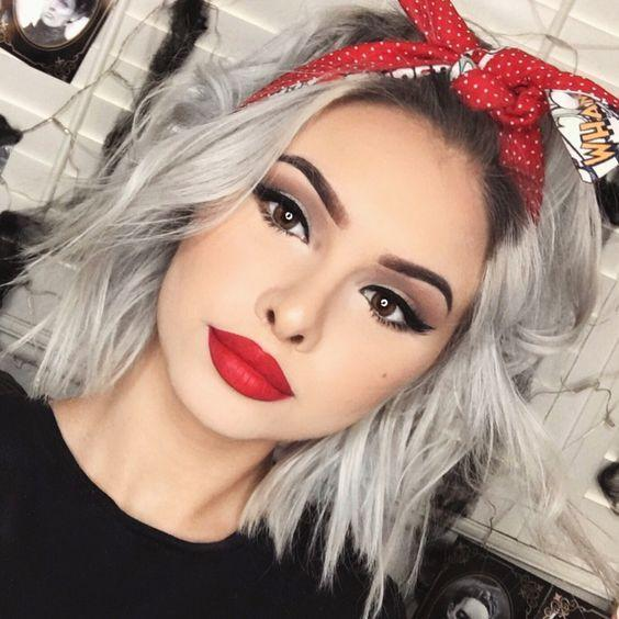 Gray Wigs Lace Frontal Hair Virgin Hair For Black Women Best Demi Permanent Hair Color To Cover Gray Ba1618 Wig Color  Mocha Brown Hair