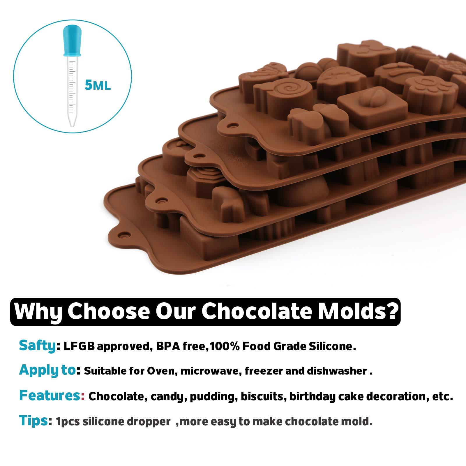 Silicone chocolate candy mold (4 cute shape)