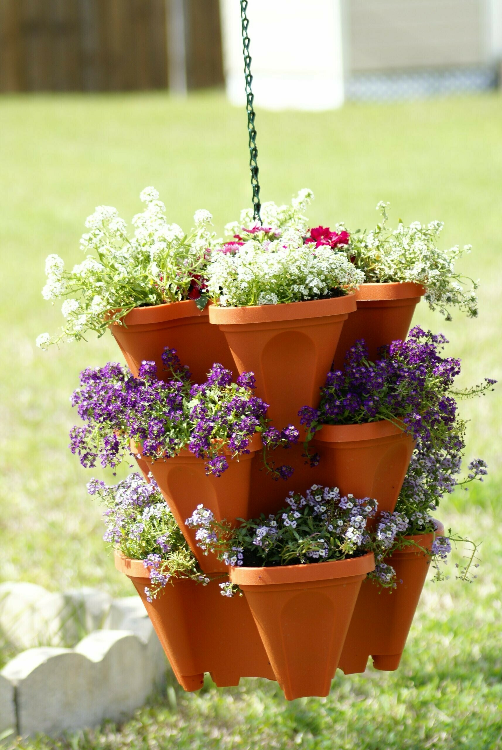 STAND STACKING PLANTERS STRAWBERRY PLANTING POTS