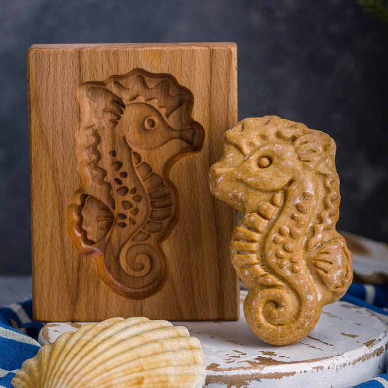 Cookie Cutter - Seahorse Cookie Stamp