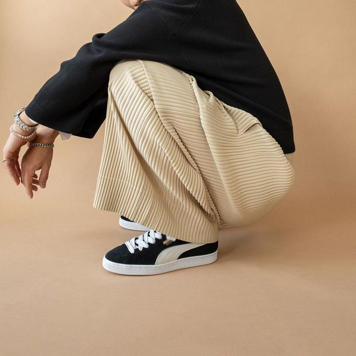 Casual Pitted Pleated Loose Trousers