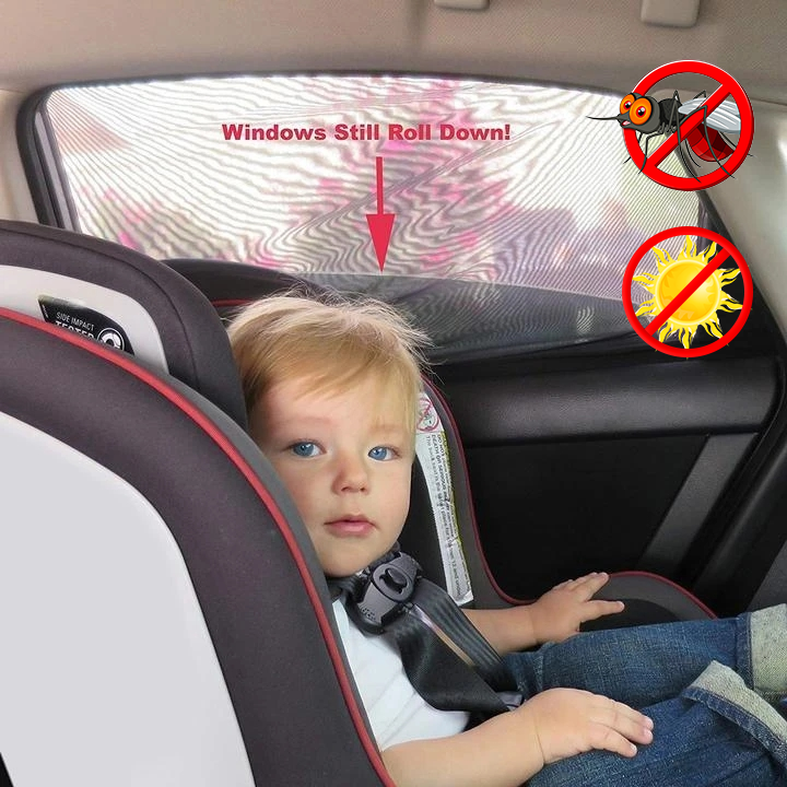 Hot Selling -- Great Universal Car Window Sun Shade Curtain(Fits all Cars)