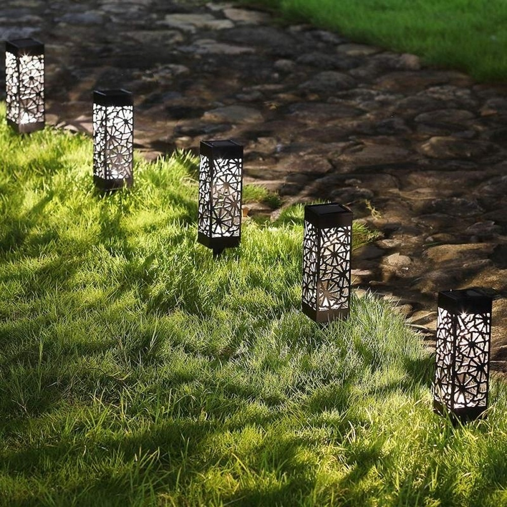 BUY 8 PCS EACH 8.75$-Solar Powered LED Garden Lights Hollow-out Lawn Lights