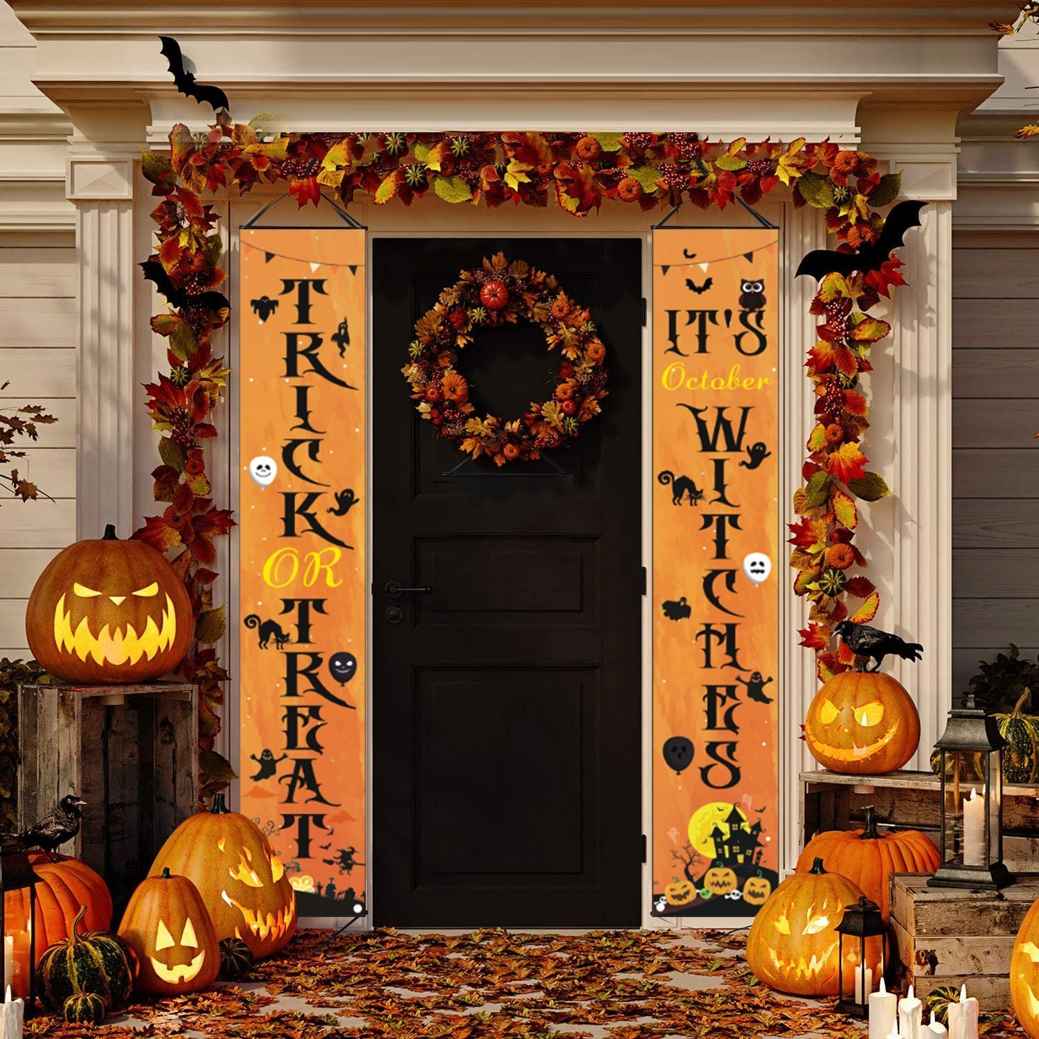 2020 New Halloween Decorations Porch Sign