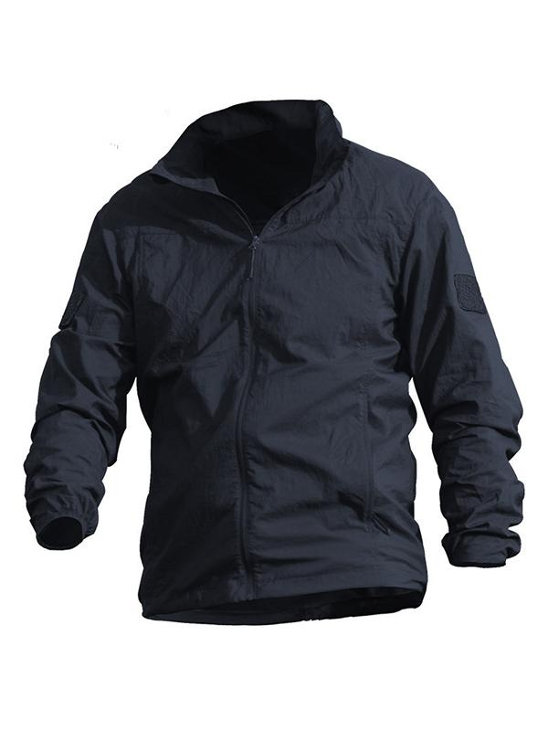 Men's Thin Windbreaker With Breathable Skin