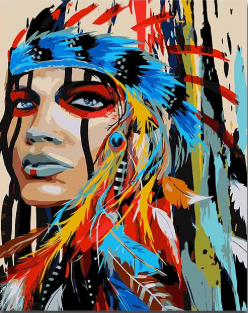 DIY Painting By Numbers -Indian Girl (16