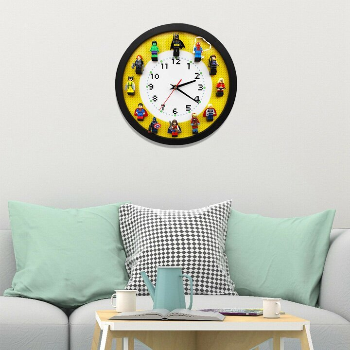 50% OFF TODAY! Wall Clock Including 12 Superheroes