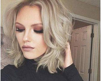 2021 New Lace Front Wigs Rose Gold Hair Color Long White Hair On Back Black Men With Grey Hair